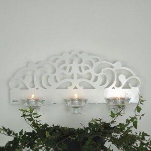 Stil, vit. Väggljusstake, vitlackerad aluminium