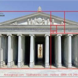 Đền Parthenon là đánh dấu cho sự xuất hiện của tỷ lệ vàng