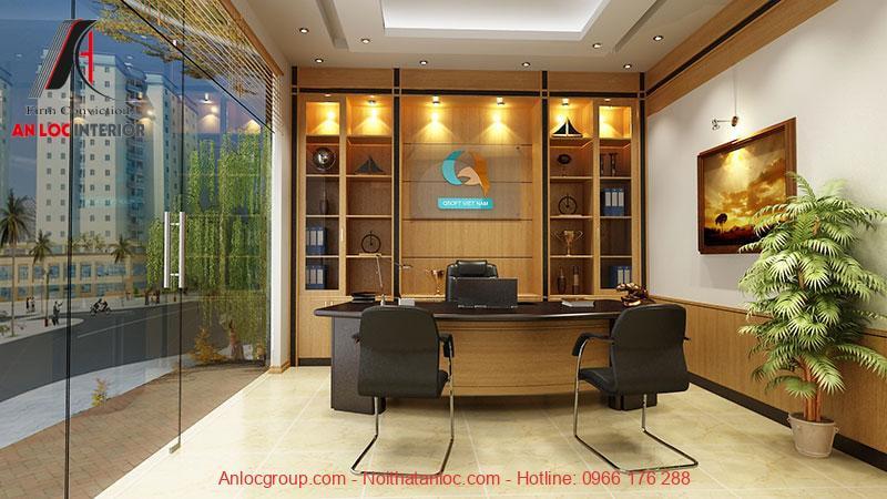 Mẫu thiết kế nội thất phòng giám đốc 1