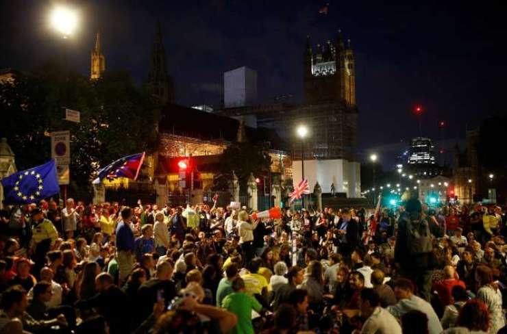 manifestation anti-brexit Londres Westminster