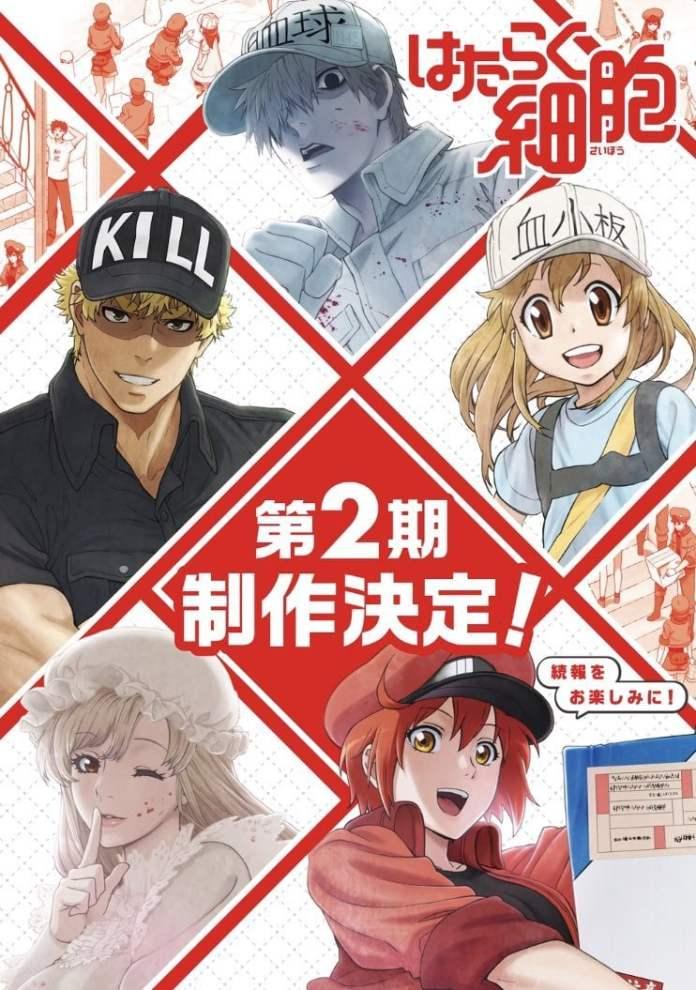 La segunda temporada de Hataraku Saibou revela su fecha de estreno