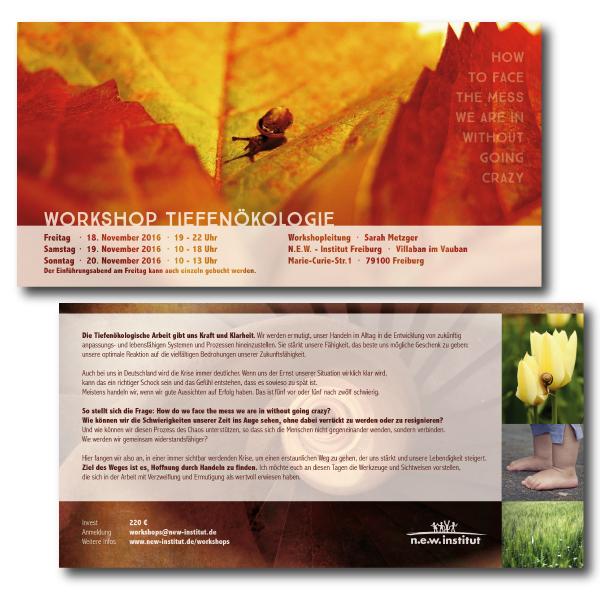 Flyer für einen Workshop zur Tiefenökologie