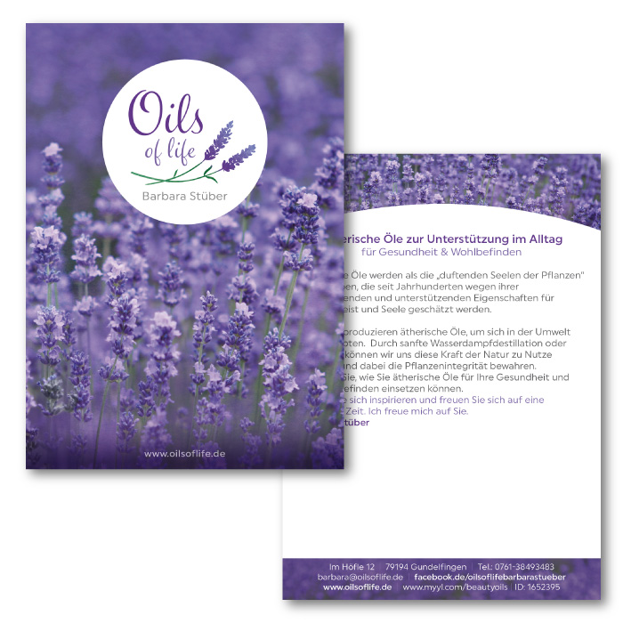 Postkarte für Oils of life
