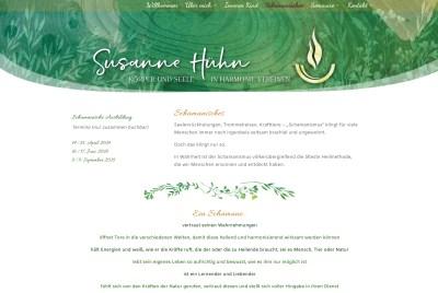 Website-Unterseite für Susanne Hühn