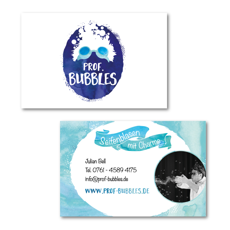 Visitenkarte für Prof. Bubbles