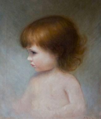 A Portrait of my Daughter. 40cm x 50cm, oil on linen.