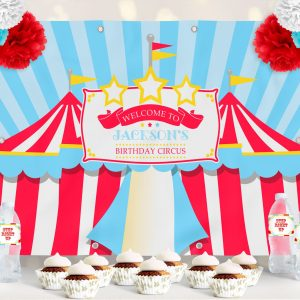 Printable Circus/Carnival Backdrop- Bright Red- 4 x 6