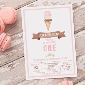Printable Ice Cream Party Invitation