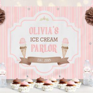 Printable Ice Cream Backdrop- Stripes- 4 x 6