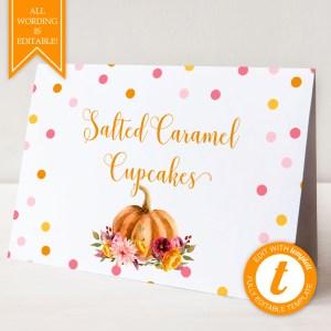 Printable Little Pumpkin Buffet/Place Cards