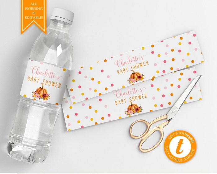 Printable Little Pumpkin Drink Labels