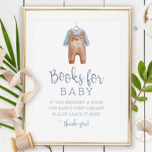 Printable Books for Baby Sign- Brown Onesie