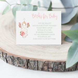 Printable Books for Baby Card- Floral Onesie