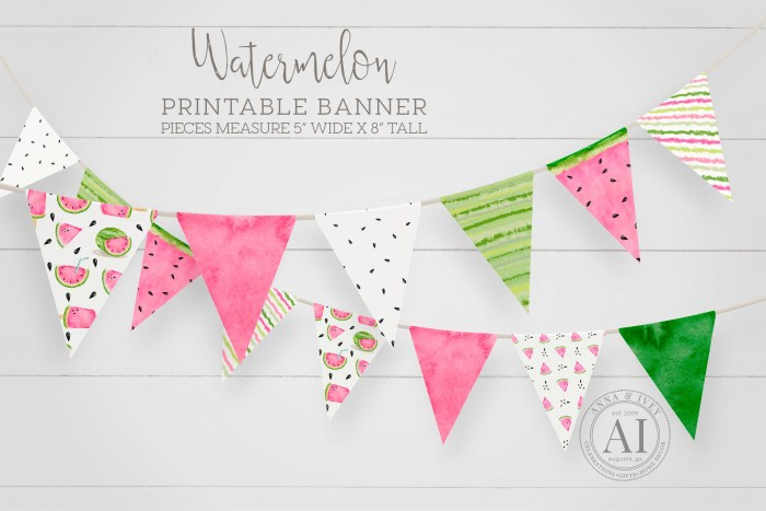 Printable Watermelon Banner