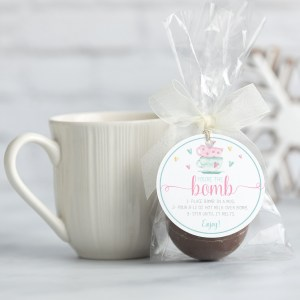 Printable Pastel Valentine Hot Cocoa Bomb Tag