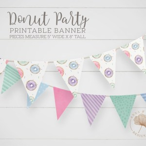 Printable Donut Party Banner