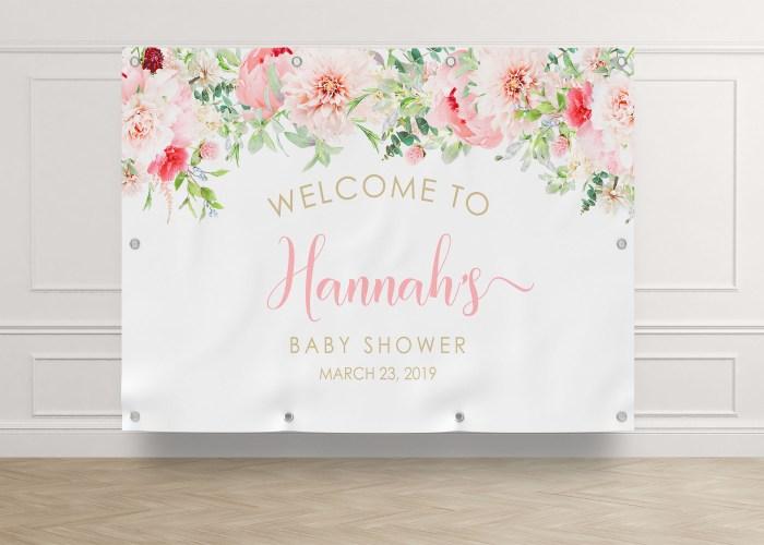 Printable Pink Floral Backdrop- 8 x 10