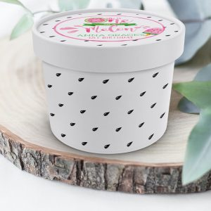 Printable Watermelon Ice Cream or Treat Tub Labels- One in a Melon- White