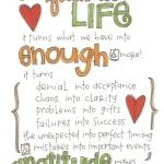 Gratitude Journalling