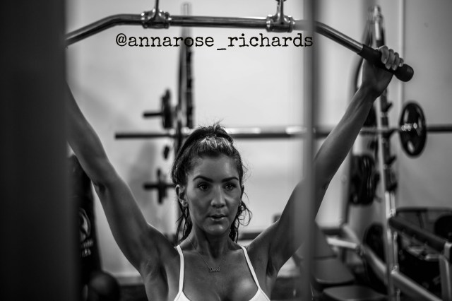 Anna Richards - Lat Pull Down Front w words