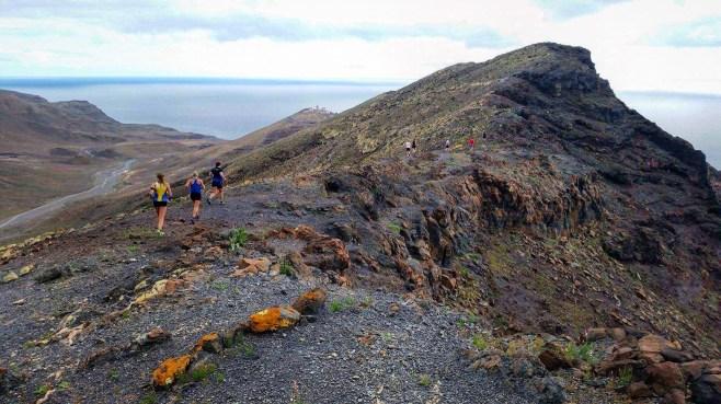 Många fina bergskammar att följa när det sprungits klart på stigarna.