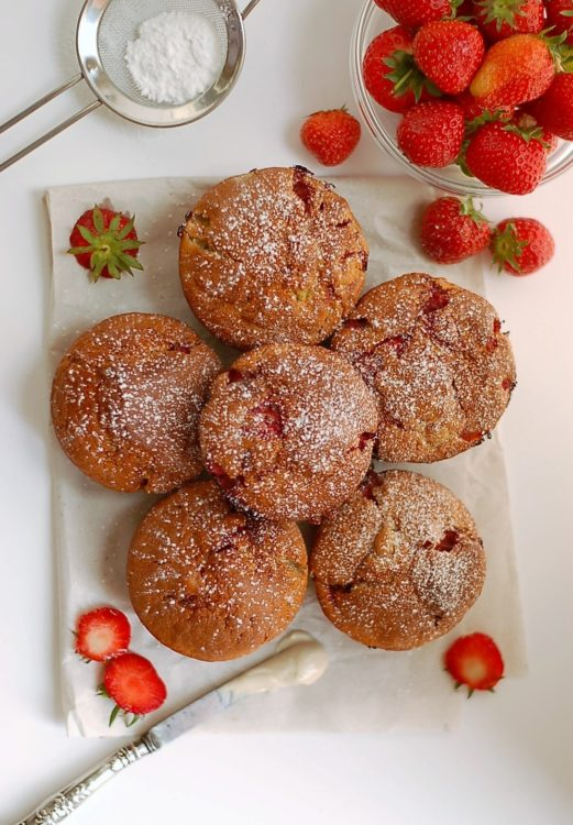 Strawberry and Banana Muffins