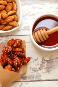 Roasted Almonds in Sweet Almond Glaze
