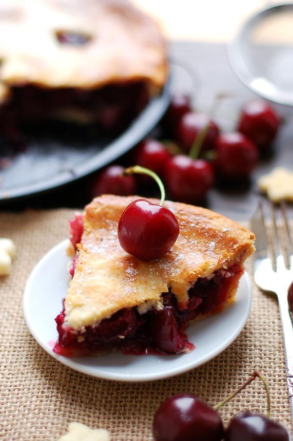 Cherry Pie with Coconut Cream