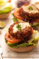 Chickpea-Burgers with Carrot and Beetroot