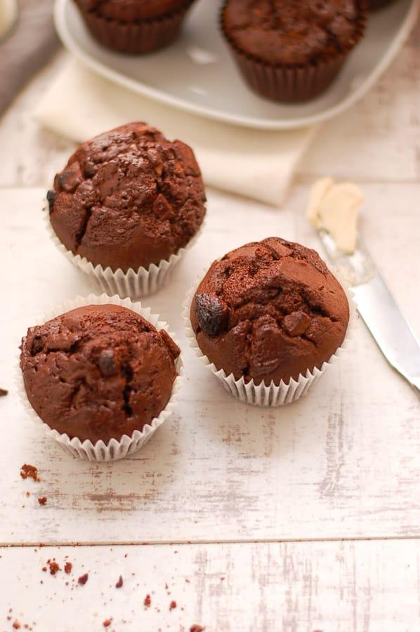 Yummy Double Chocolate Muffins