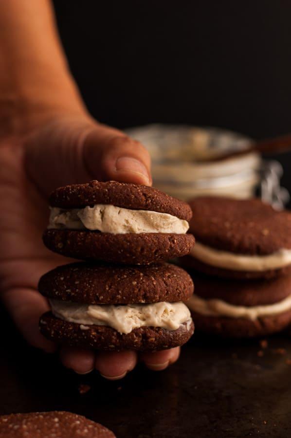 Chocolate Cookies with Cream   via @annabanana.co