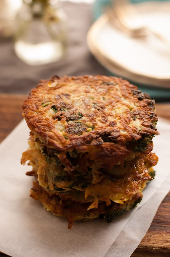 Potato Rosti with Kale and White Cabbage