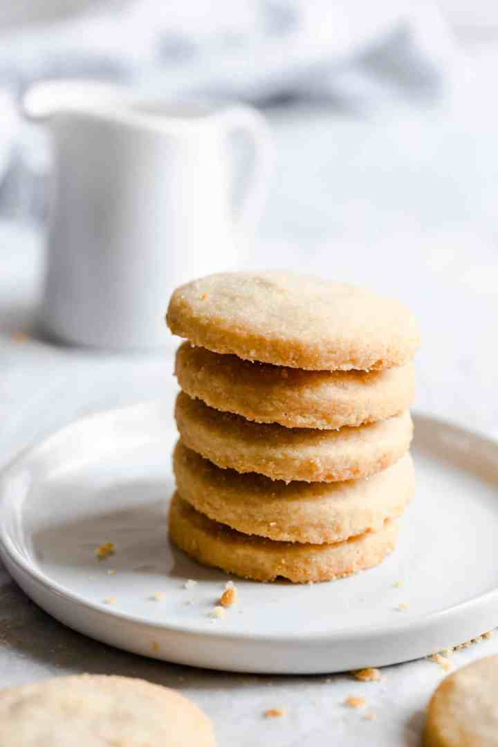 close up of a small stack of cookies