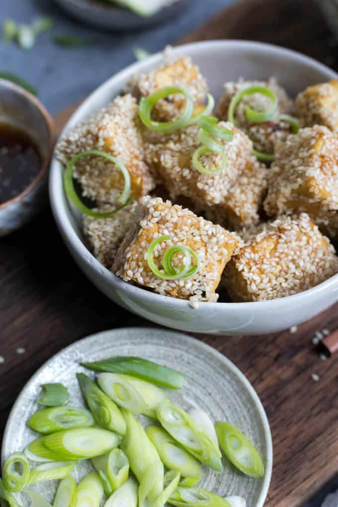 Sticky Tofu with Soba Noodles and pickled zucchini   via @annabanana.co