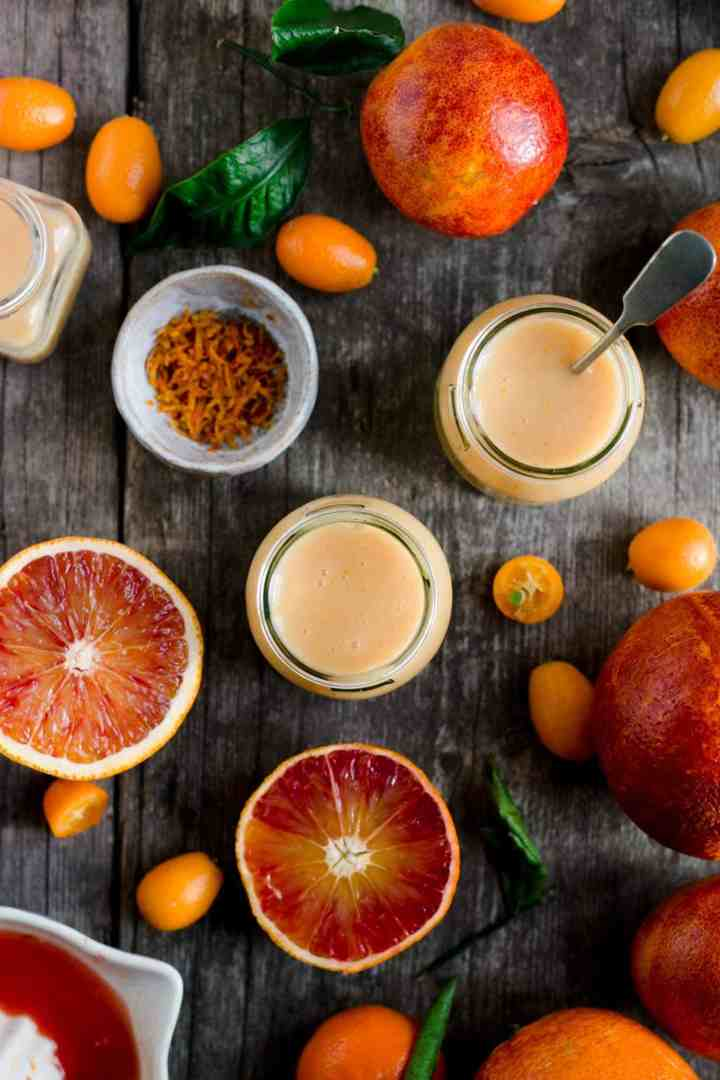 Super easy vegan blood orange curd recipe #vegan #dairyfree #curd | via @annabanana.co