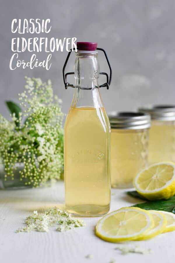 Classic elderflower cordial recipe. Beautifully fragrant and refreshing cordial, perfect for all of your summer drinks! #elderflowercordial #elderflower #homemade   via @annabanana.co