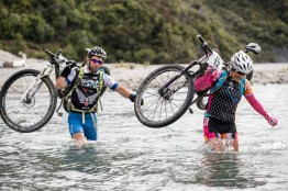 Team Stand Up Chance, Annabel Anderson and Sam Thompson perform at Red Bull Defiance in Wanaka, New Zealand on January 21, 2017