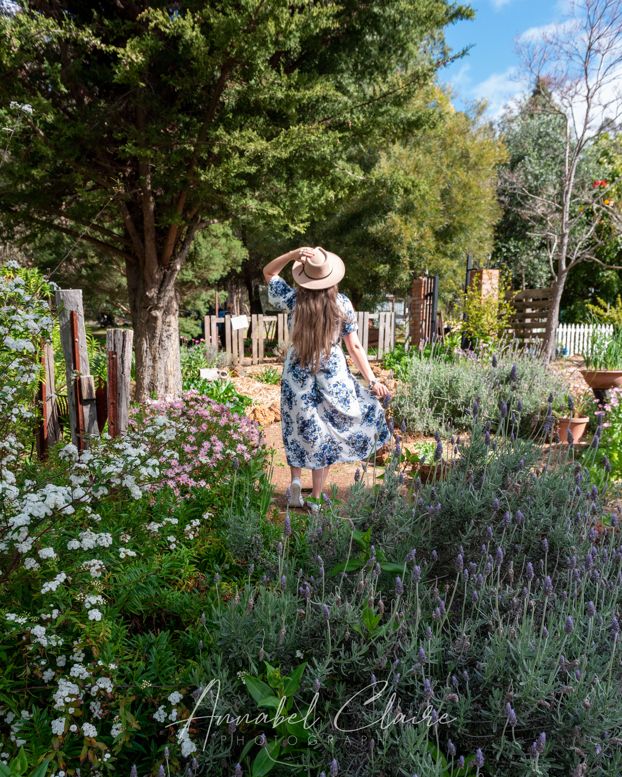 Portrait image of a girl in Nannup Lavender Farm garden