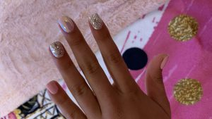 Pink and Sparkly Nails of The Week | Easy Glam Manicure  with Press On Nails