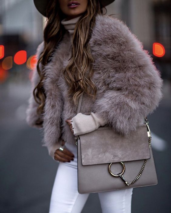 glam feminine winter outfit