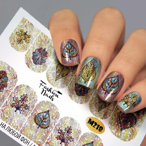 Fashion Nails, Слайдер дизайн Metallic-218