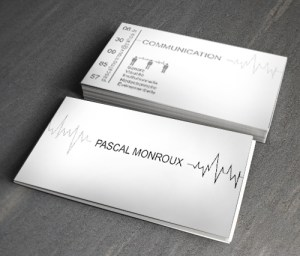 Cartes de visite de M. Pascal Monroux