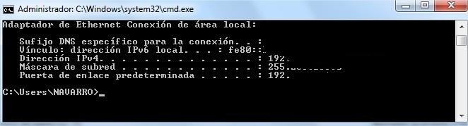Administrador CWindowssystem32cmd.exe