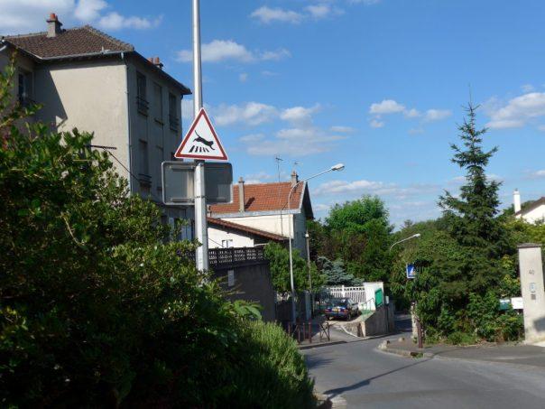 rue du Moulin, road to the islands of Créteil