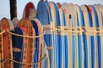 Surf boards on Waikiki Beach