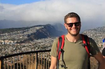 Ben at the top of Diamond Head