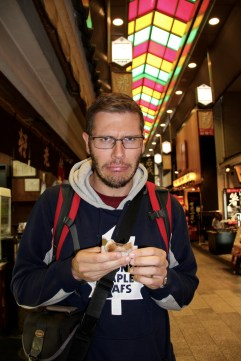 Kyoto Nishiki Markets - we didn't always choose well
