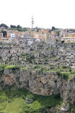 View of Matera from the other side of the valley