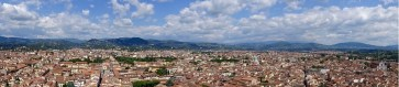 Panoramic view from the Florence Cathedral