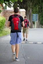 Ben and Matt walking on the Via Appia Antica in Rome